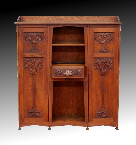 Suzanne Gether Carved Cupboard